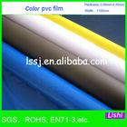 1492 soft pvc color blue film for stationery