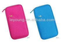 Multi Color nylon travel wallet organizer
