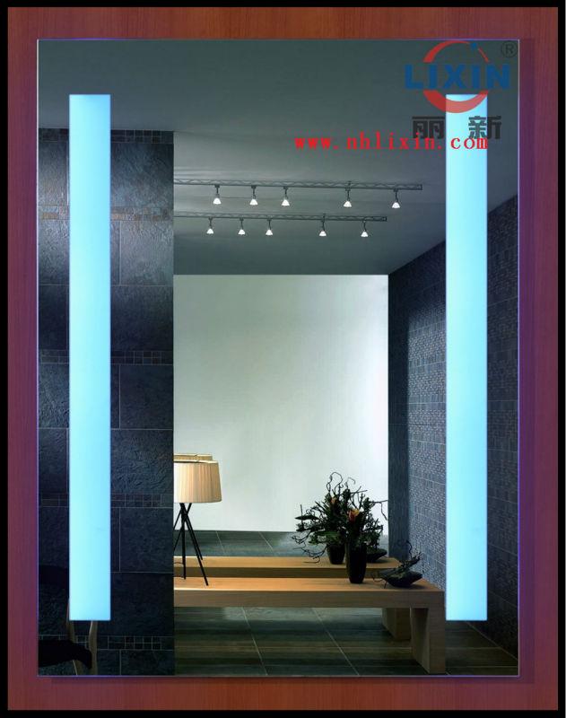 Hotel Bathroom Vanity With LED Mirror, View commercial bathroom vanities, Lixin Product Details ...