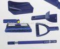 5 1 en multi- función telescópica de aluminio pala de nieve y cepillo de la nieve con rascadordehielo