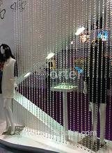hanging clear diamond crystal bead curtain for wedding/hotel/wedding decoration
