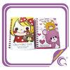 Charming girl cartoon design mini spiral notebook