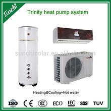 CE,TUV, CB ,Australia certificate R410A 3kw,5kw,7kw,9kw COP4.2 ,ax 60deg.C shower tankless air to water mini split heat pump