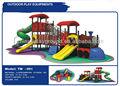 engraçado crianças plástico playground ao ar livre com preço de fábrica