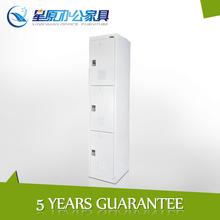 Steel furniture changing room metal locker with 3 door