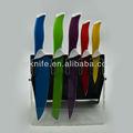 De alta calidad 5 pccolor no- palo de recubrimiento cuchillo de cocina