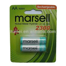 AA 1.2V 2000mAh Rechargeable NiMH Battery