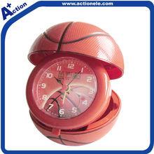basketball quartz alarm table clock for kid