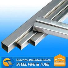 Straight Seam 45X45X2.0mm Pre galvanized square pipe Post and Rail