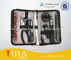 bicycle repairing tool set with pouch
