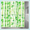 """100 poliéster impressão de bambu cortina de chuveiro/bambu"""" cortina de chuveiro"""""""
