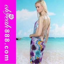 Exotic Tropical style Beach bikini swimwear cover up dress one size