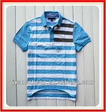 polo t shirt polo/blank organic shirts/blue white men striped t-shirt