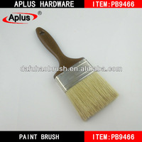 two times boiled white plastic handle paint brush