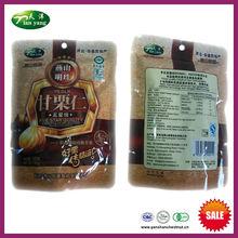 nuovo sano organico sgusciate cotto castagne cinese spuntini con sacchetto della stagnola
