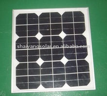 25W mono-crystalline solar panel with CE certification