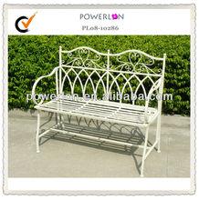 High Quality Antique White Metal Garden Bench