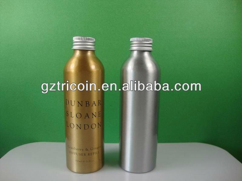 bottiglia di alluminio con diversi pompa e spruzzatore