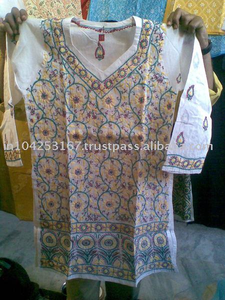 lucknow chikan embroidered kurti, chiffon embroidered indian kurtis, georgette kurtis georgette chiffon kurtis