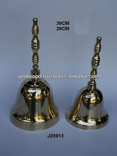 Shinny Polished Brass Handle Bell in made in cast process also available in silver plating