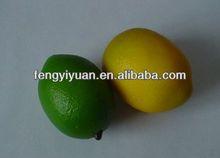 2014 new design artificial beautiful lemo fruit mini foam fake lemon