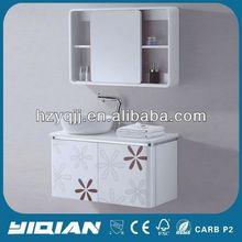 Hangzhou Mirror Wall Shelves Cabinet PVC Bathroom Furniture Cabinet Design