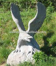 White marble eagle sculpture