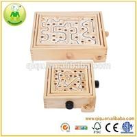European Hot Sale Children Intelligence Game Wooden Maze Toy