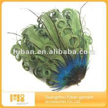 2014 wholesale china green feather headband