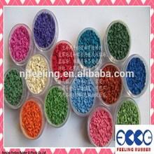 Colored EPDM rubber granules/crumb rubber manufacturers/running track granules/playground rubber mulch-FL-G-V-178