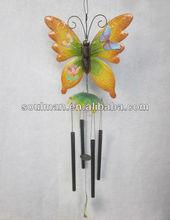 2015 hot metal butterfly windbell wall garden decoration wind chime garden decor metal wind chime