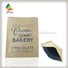 resealable zipper kraft paper coffee bags food packaging bags,strong brown paper bags