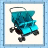 one-hand folding system twin stroller 2016T