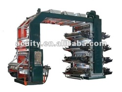 high speed eight color plastic film flexo printing machine