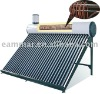 solar pressurized copper coil water heater