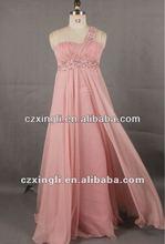 NEW!! A-line/Princess One Shoulder Floor-length Chiffon Evening/Prom Dress