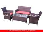 4 pcs set,rattan furniture,garden furniture