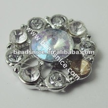 High Quality real diamond shamballa bracelet rhinestone buttons for garment