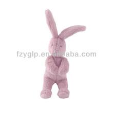 soft carton plush bunny toys, animal rabbit stuffed dolls for promotional gifts