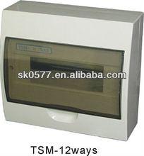 12ways Plastic power distribution box /electrical distribution board