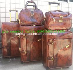 artifical leather PU luggage