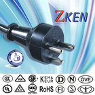 c19 to c13 power cord euro plug 2/3 pins plug plastic/rubber 110v vde hair dryer/refrigerator/tv/washer kettle power cord plug