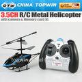 3.5ch R / C de metal helicóptero com câmera ( REH54817C ) IR cabeça do rotor principal metal camera rc helicopter