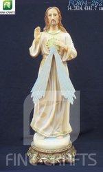 Polyresin religious statue of Saint Joseph