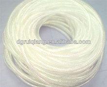 White with Iridescent Color Foil Deco Mesh Flex Tubing for Wreaths Decoration