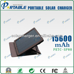 15600mA Portable Solar Charger for Phone 5.5V/9V/12V USB Output