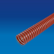 Perforated clear or orange PVC drainage pipe