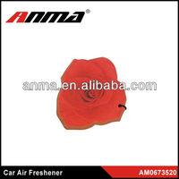 Hanging Paper Car Air Freshenercar / paper air freshener for car / rose shape