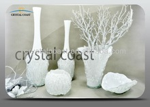 wholesale different types art decor large new white murano porcelain glass vase pearl