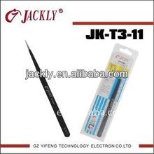 JK-T3-11,Black nickel plated tweezers,CE Certification